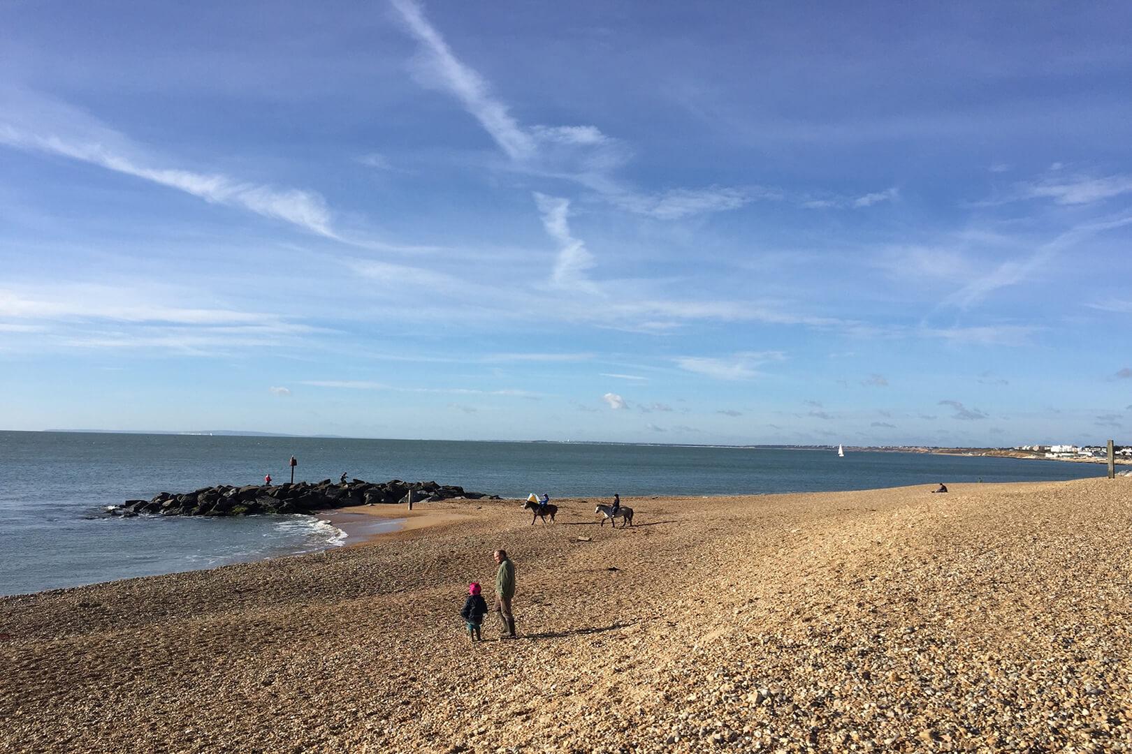 Beach side at Hurst Spit