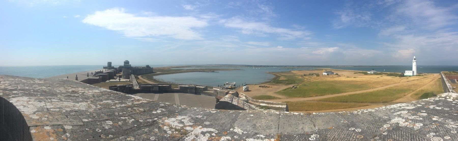 The view from the roof of Hurst Castle