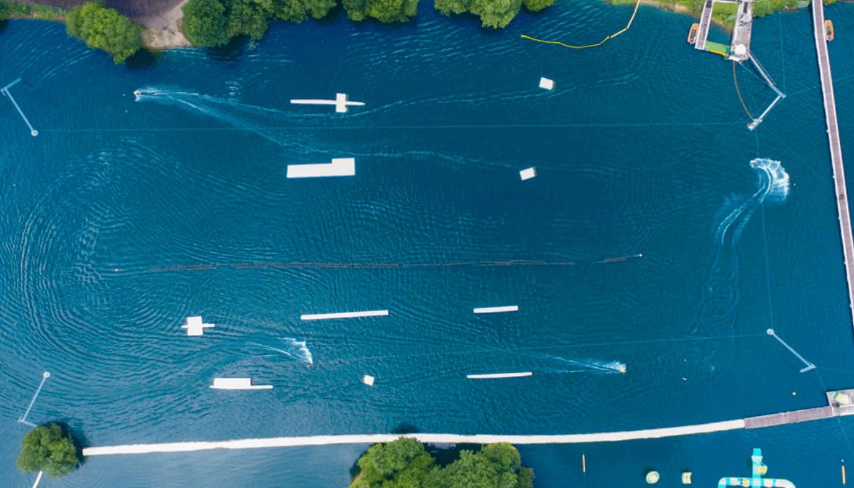Water park aerial