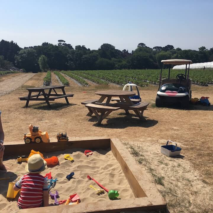 Sandpit at Goodalls Pick YOur Own